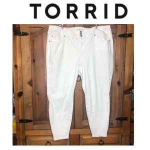 Torrid White Jeggings Worn Once Size 24 Short